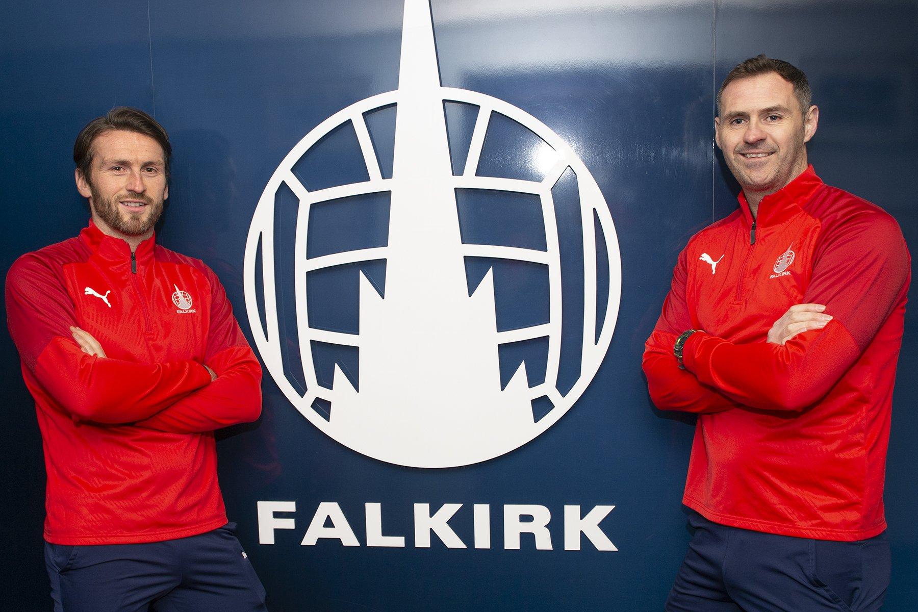 Falkirk interim managers Lee Miller and David McCracken